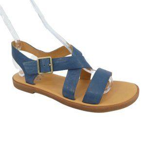 Kork-Ease Yucca Blue Leather Minimalist Sandals